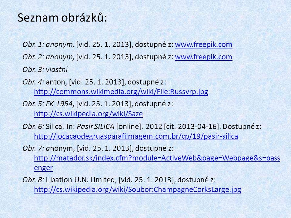 Seznam obrázků: Obr. 1: anonym, [vid. 25. 1. 2013], dostupné z: www.freepik.com. Obr. 2: anonym, [vid. 25. 1. 2013], dostupné z: www.freepik.com.